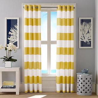 Cabana Stripe Yellow Curtain Panel Set