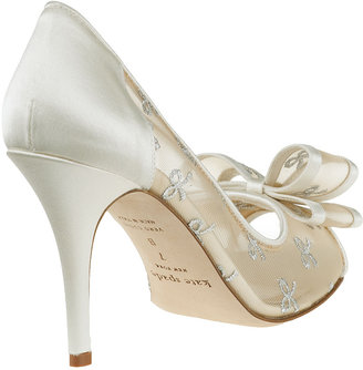 Kate Spade Calina Evening Pump Ivory Satin