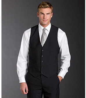 Kenneth Cole Reaction Men's Vest - Gray Stripe