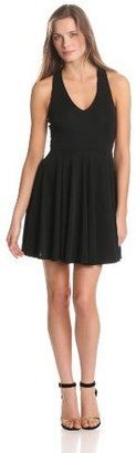 Eight Sixty Women's V-Neck Fit And Flare Cut-Away Back Dress