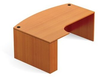 """Superior Laminate Bow Front L-Shape Desk Shell Offices To Go Size: 29.5"""" H x 71"""" W x 48"""" D, Extension: Left, Finish: American Mahogany"""