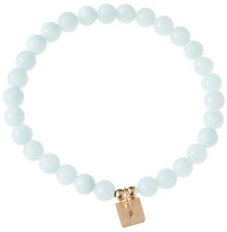 Anna Bee Jewelry Blue Amazonite Mini Initial Bracelet