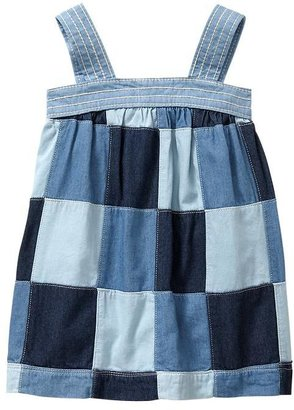 Gap Patchwork denim dress