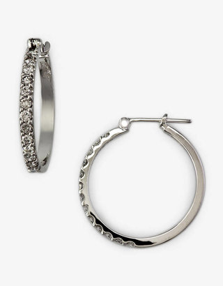 EFFY COLLECTION Diamond Hoop Earrings in 14 Kt. White Gold, 0.5 ct. t.w.