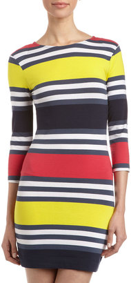 French Connection Jag Multi-Stripe Dress, Nocturnal