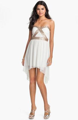 Trixxi Sequin Strapless Goddess Dress (Juniors)