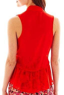JCPenney Decree® Studded Sleeveless Blouse