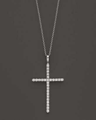 Bloomingdale's Diamond Cross Necklace in 14K White Gold, .35 ct. t.w.