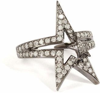 Nikos Koulis 18K Black Rhodium Fontana Ring with White Diamonds
