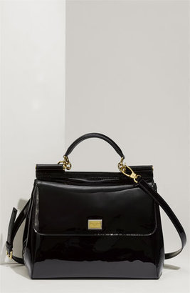 Dolce & Gabbana 'Miss Sicily' Patent Leather Top Handle Satchel