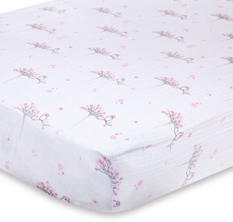 "Crib Sheet - ""For the Birds"" (Muslin Cotton)"