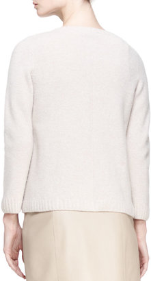 The Row Crewneck Cashmere Pullover Sweater, Clay