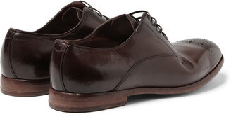 Dolce & Gabbana Washed-Leather Brogues