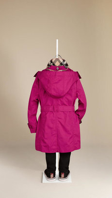 Burberry Cotton Twill Hooded Trench Coat