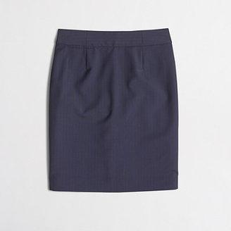 J.Crew Factory Factory pencil skirt in pinstripe wool