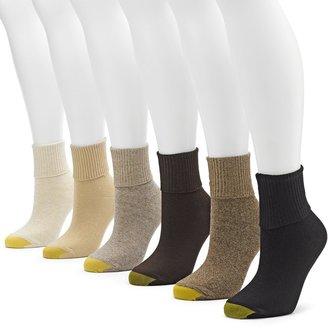 Gold Toe Women's GOLDTOE 6-pk. Turn-Cuff Socks