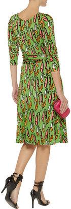 Issa Wrap-effect printed silk-jersey dress