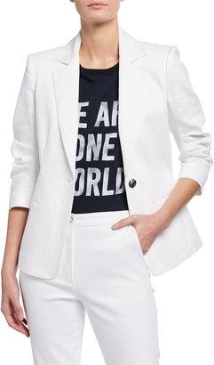 Cinq à Sept Khloe 3/4-Sleeve White Denim Blazer