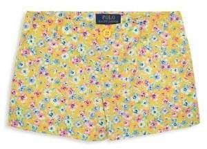 Ralph Lauren Childrenswear Girl's Floral Poplin Shorts