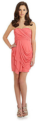 Sequin Hearts Strapless Draped Dress
