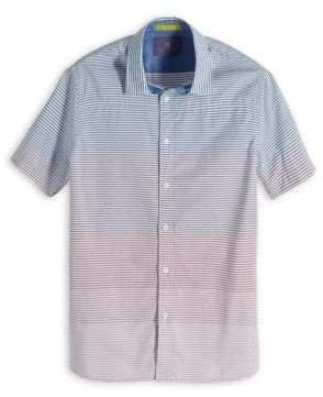 Scotch & Soda Gradient Striped Short Sleeve Sport Shirt