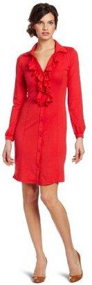 Bobi Women's Supreme Ruffle Button Front Dress
