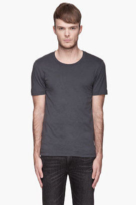 BLK DNM Charcoal grey crewneck T-Shirt
