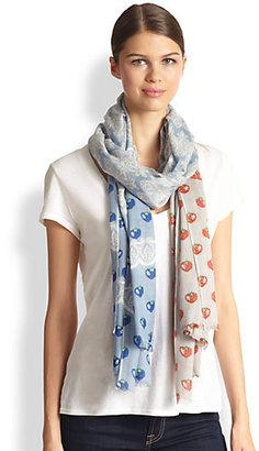 Yarnz Lace Strawberry Cashmere & Silk Scarf