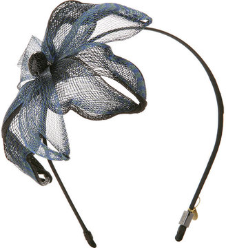 Colette Malouf Layered Mesh Orchid Headband, Blue/Black 1 ea