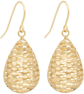 Lord & Taylor Drop Earrings in 14 Kt. Yellow Gold