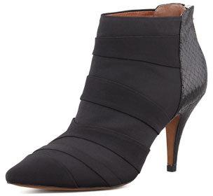 Donald J Pliner Pointy Toe Ankle Boot, Black