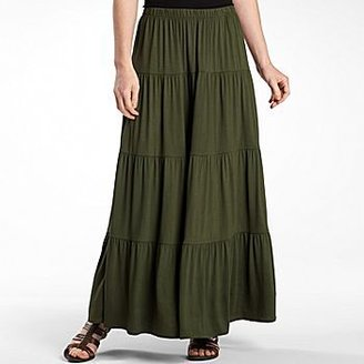 JCPenney St Johns Bay® Multi-Tier Maxi Skirt