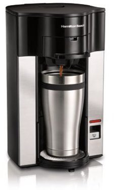 Hamilton Beach 14-oz. Stay or Go Personal Cup Pod Coffeemaker, Black and Stainless Steel