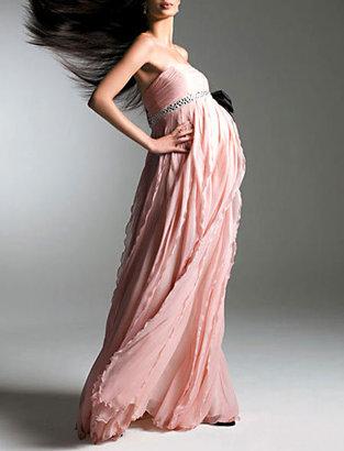 A Pea in the Pod Strapless Chiffon Dress