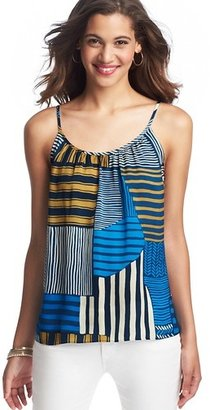 LOFT Collage Stripe Gathered Cami