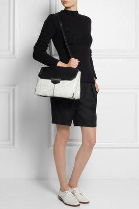 Marion large cracked-leather shoulder bag