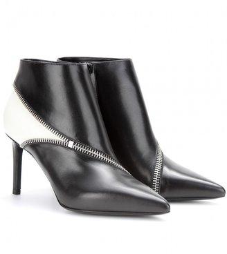 Saint Laurent Paris leather ankle boots