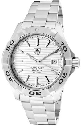 Tag Heuer Men's Aquaracer White Dial Stainless Steel Bracelet TAG-WAP2011.BA0830 Watch