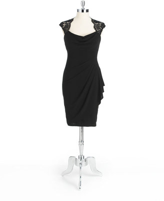 Xscape Evenings Lace Open-Back Dress