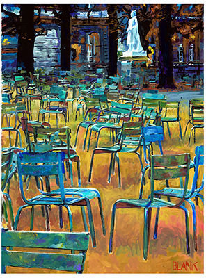 Future Media Development Wall Art, Des Chaises Canvas Print by Jerry Blank