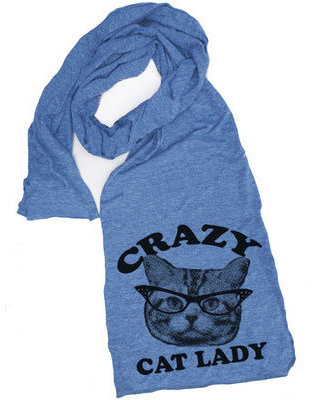 Skip N' Whistle Cat Lady Scarf Blue