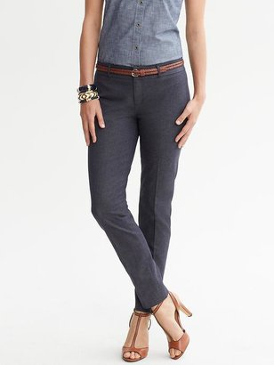 Banana Republic Sloan fit textured navy slim ankle pant