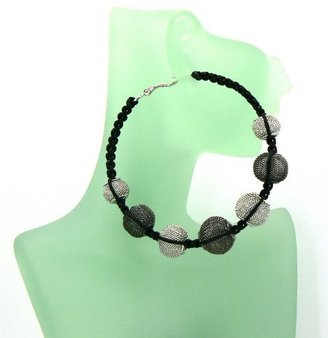 Hematite with Silver Basketball Wives Poparazzi Earrings with Disco Balls Lady Gaga Paparazzi