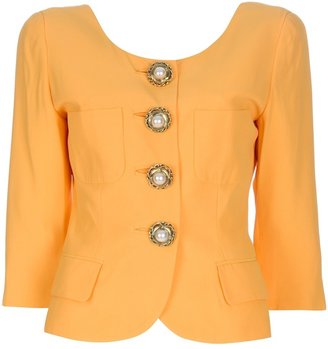 Moschino Vintage Peal button jacket