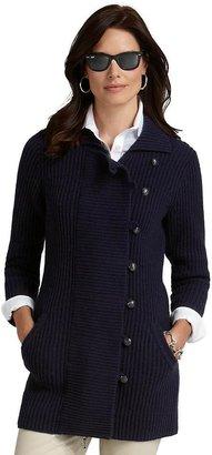 Brooks Brothers Virgin Wool Duffle Coat Sweater