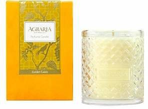 Agraria Golden Cassis Woven Crystal Candle