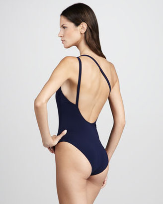 Tory Burch Medallion One-Shoulder One-Piece Swimsuit