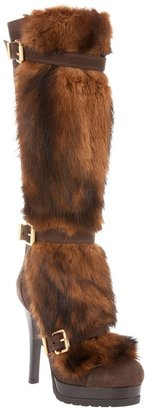 Fendi buckled fur boot