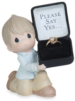 Precious Moments Precious Moments™ For The One I Love - Please Say Yes Porcelain Figurine