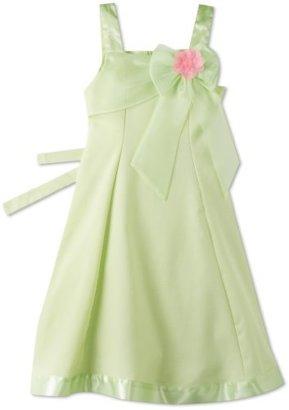Bonnie Jean Girls 7-16 Green Upsweep Linen Dress